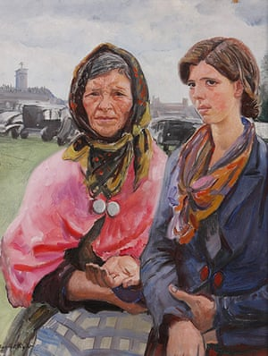 Laura Knight: Gypsies at Ascot by Laura Knight