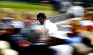 Kevin Pietersen of England walks out to bat through the crowd during day three of the Ashes test match between England and Australia at Trent Bridge.
