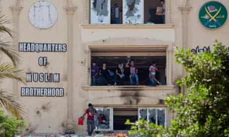 Muslim Brotherhood Head-Quarters Attacked As Anti-Morsi Protests Are Held