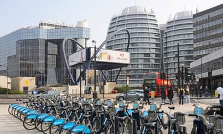 Old Street roundabout, also known as Silicon Roundabout