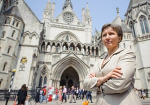 Marina Litvinenko, the widow of Alexander Llitvinenko, speaks to the media outside the Royal Courts of Justice, in London, as she has vowed to continue her quest for the truth after the government refused her calls for a public inquiry into his death.