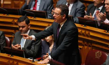 Portuguese Socialist party leader Jose Antonio Seguro speaks in parliament