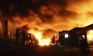 20 Photos: Fire from a train explosion is seen in Lac-Mégantic