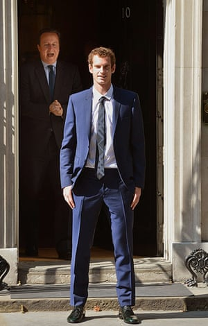 20 Photos:  David Cameron welcomes Andy Murray to 10 Downing Street