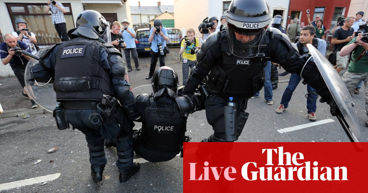 ed43de199b Clashes in Belfast following Twelfth of July parades - as it happened
