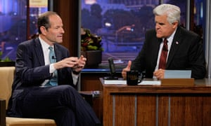 Eliot Spitzer talks to Jay Leno