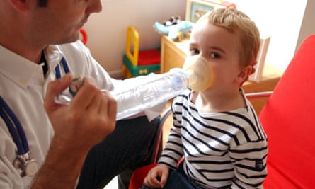 Child treated asthma