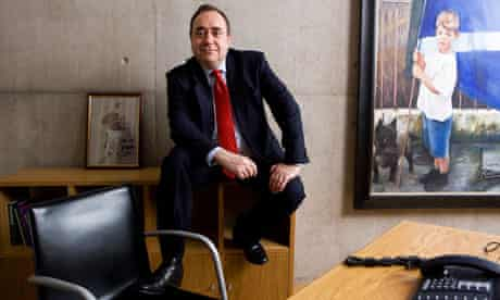 Alex Salmond in his Holyrood office