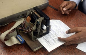 Indian telegraph closes: telegraph office in Mumbai