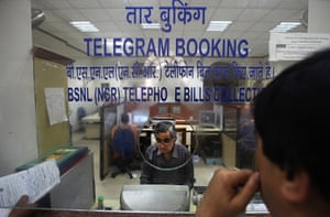 Indian telegraph closes: Central Telegraph Office in New Delhi