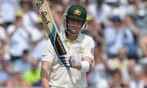 Australia's Brad Haddin raises his bat after reaching his 50.