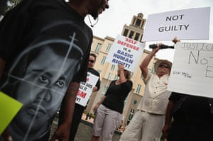 Zimmerman not guilty: Supporters of Treyvon Martin and George Zimmerman