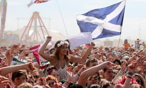 Fans at the main stage on the final day of T in the Park
