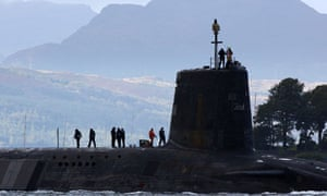 Submarine carrying Trident missiles, Faslane