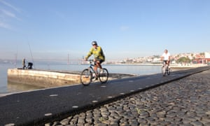 Lisbon cycle path
