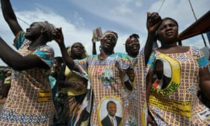 Supporters of Alpha Condé of Guinea