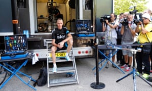 Mellow yellow: Team Sky rider and yellow jersey holder Chris Froome poses as he prepares for a training session during the second rest day of the Tour de France cycling race in Orange.
