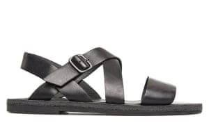 Top 10 mens sandals: Mens sandals: black strappy leather sandals by Camper