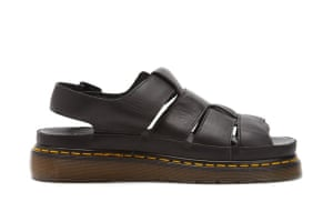 Top 10 mens sandals: Mens sandals: black gladiator style leather unisex sandals by Dr Martens