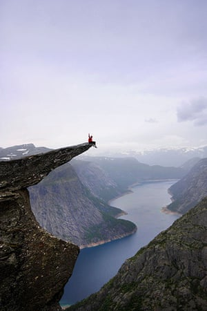 Trolls tongue stunt: Sitting on top of the world