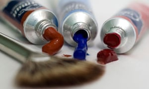 Brush and artists paints