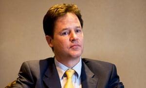 Nick Clegg unemployment