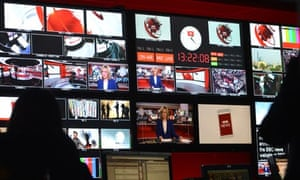 Inside the BBC's newsroom at Broadcasting House - marketing success requires brands to emulate the a
