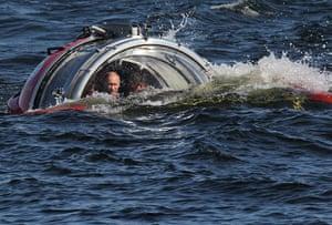 Putin action man : Vladimir Putin Rides In A Submersible