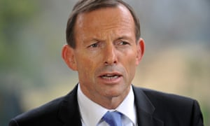 Tony Abbott answers questions during a press conference in Sydney on15 July 2013.