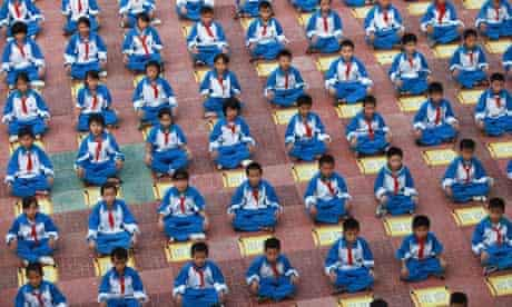 Pupils Recite Di Zi Gui At A Primary School