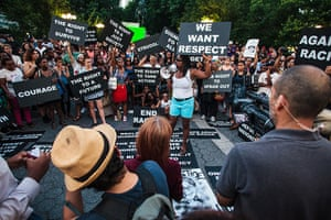 Trayvon protests: New York City: Thousands of demonstrators protest in Union Square and Times