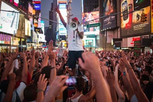 Trayvon protests: New York City: Hundreds of activists demand justice for Trayvon Martin afte