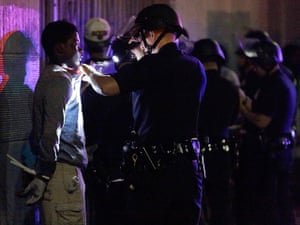 Trayvon protests: Los Angeles: Police arrest about a dozen people after a peaceful protest su