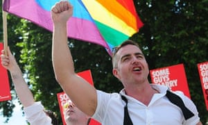 LGBT rally for equal marriage outside Parliament