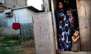 A Syrian refugee family in Beirut, Lebanon