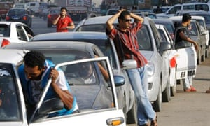Cairo petrol queue