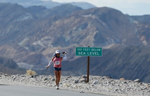 FTA Lucy Nicholson: Shannon Farar-Griefer passes an elevation sign