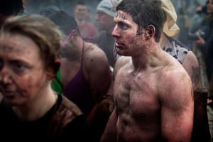 Tough Guy - Weekend: Semi-naked man - participant in Tough Guy competition