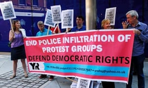 Protest outside Scotland Yard