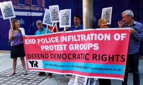 Protest outside Scotland Yard