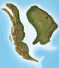 Map showing Laramidia and Appalachia