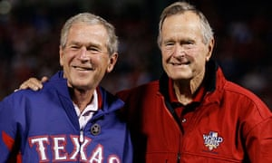 George W Bush and his father