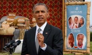 Barack Obama discusses food security during a tour of Dakar, Senegal