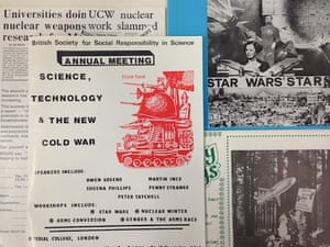 BSSRS materials showing interest in issues of science, technology and war