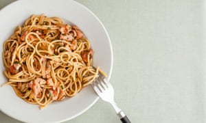 pasta with bacon, tomato and chilli