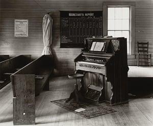 Walker Evans: Church Organ and Pews, Alabama, 1936