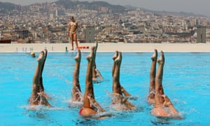 Elegantly co-ordinated the Swiss Syncronized Swimming Team trains ahead of the FINA World Championships in Barcelona, Spain.