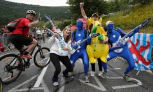 Tour de France fans are known for their vivid approach to dressing up, but some of this year's crowd have really gone the extra mile...! See more of their colourful costumes in our gallery.