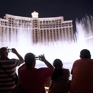 Las Vegas in pictures: Fountain at Bellagio Hotel