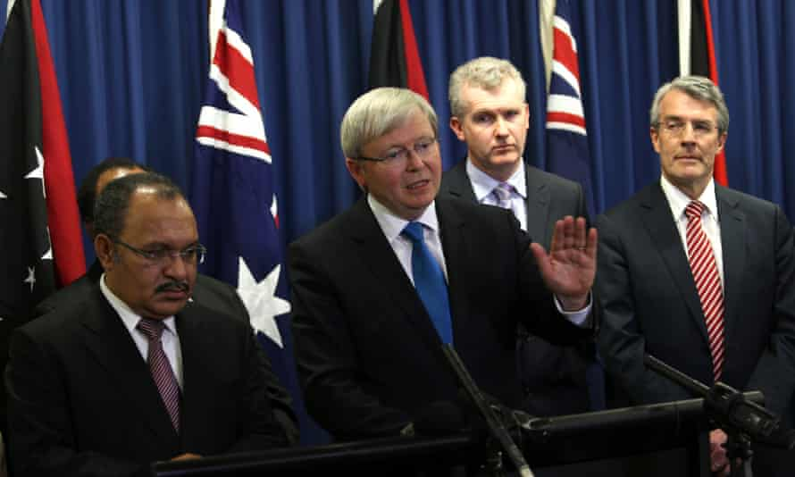 Kevin Rudd's best chance of pulling off the biggest election upset in recent Australian political history is to take over all of Tony Abbott's slogans